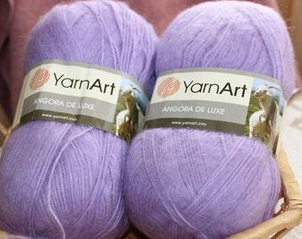 Angora de Luxe, angora yarn, mohair yarn, angora yarn for knitting, yarn for crochet, hand knitting yarn, angora yarn for sale