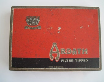 Ardath Filter Tipped cigarette tin (50/empty) -  c.1950/60