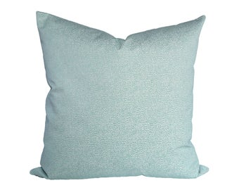 Shagreen Aquamarine designer pillow covers - Made to Order - Scalamandre