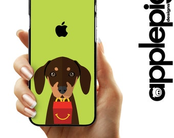 Dachshund Phone Case - Happy Meal   iPhone 5/5S/SE - iPhone 5C - iPhone 6/6S - iPhone 7/7 PLUS - Dog Phone Case - Galaxy S5/S6/S7/Edge