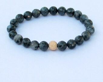 Labradorite and Gold Stardust beaded Bracelet