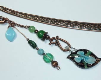 "Large bookmark copper jewelry ""Maldives"""