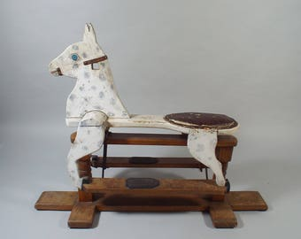 1950's Wooden Rocking Horse - Vintage - Shipping Not Included