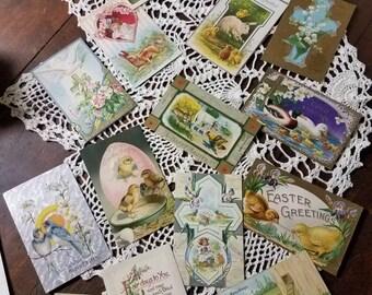 Vintage Lot of 16 Easter Postcards