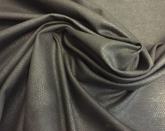 "Ponte Knit in Black with an embossed Reptile-Dot Pattern, 3/4 yard piece, 54"" wide"