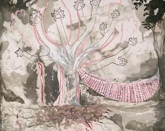 The Sleep - original painting by Jan Karpisek (FREE SHIPPING)