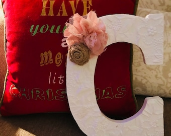 Custom Personalized Letter Bow Hangers