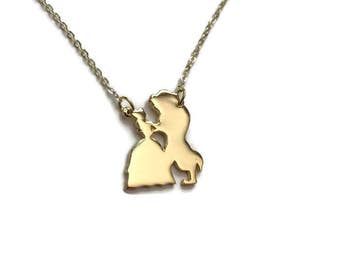 Inspired Disney Beauty & The Beast Necklace