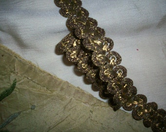 1 yard of an antique french gold metal trim ,more avail.