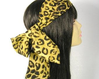 Head Scarves Hair Scarves Animal Print Head Scarf Animal Print Hair Scarf Leopard Print Hair Scarf Leopard Print Head Scarf Womens Headbands