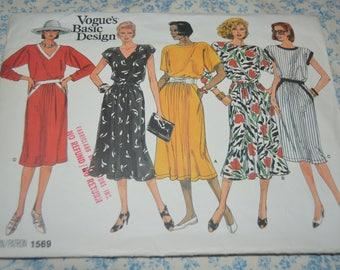 Vogue 1569 Basic Design Misses Dress Sewing Pattern - UNCUT - Size 8 10 12