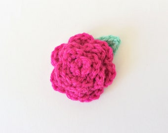 Dog Collar Flower, Dog Collar, Pink Dog Collar Flower, Crochet Dog Collar Flower, Girl Dog Collar, Dog Wedding Attire, Dog Mom Gift