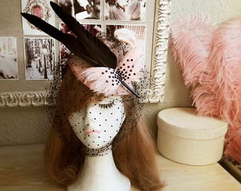 Sweet Leah 1940 feathers fascinator