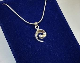 Pendant in Silver 925 spiral Silver Pendant
