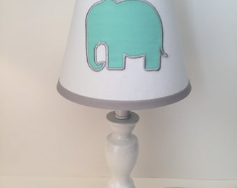 Applique Elephant Nursery Lamp Shade (other Colors Available)