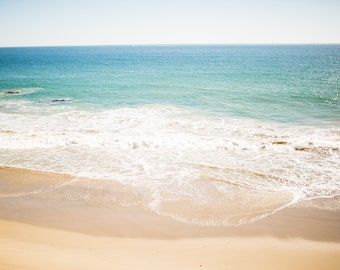 California  photography, malibu photography, aqua coastal decor, beach waves, minimalist, coastal decor, beach decor, los angeles, large art