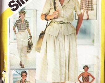 Simplicity Sewing Pattern 5385 Misses' Pants, Shorts, Skirt, Camisole  Size:  16  Uncut