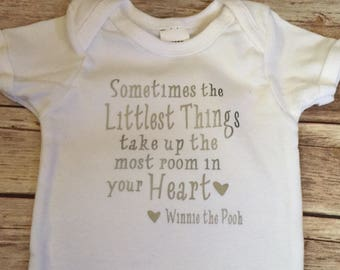 Sometimes the Smallest Things Take Up the Most Room in your Heart Bodysuit *Winnie the Pooh Bodysuit * Disney Bodysuit