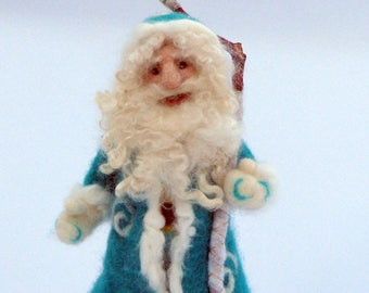 Santa Claus doll Christmas Needle felted Santa Claus  Home decoration