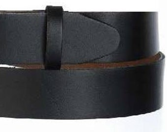 """Narrow Black Belt Strap- Snap On- Oil Tanned Leather- Mens Womens- 1 1/4"""" Width- 37 38 39 40 41 inch - Sizes Large XL USA Made"""