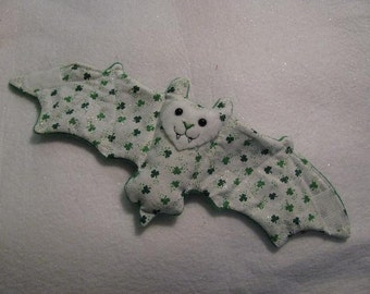 St Patricks Day - small shamrocks - Bat Cup Sleeve/Coffee Cozie or stuffed animal