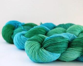 Sale TURIN - Ramie/Silk and wool sock yarn ~ DOLPHIN ~ 4ply