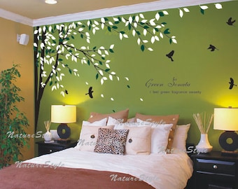 Tree Wall Decal Etsy - Wall stickers for bedrooms interior design