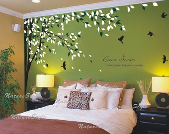 FREE SHIPPING   Bedroom Wall Decal Vinyl Wall Decals Birds Wall Sticker  Wedding Office Living Room