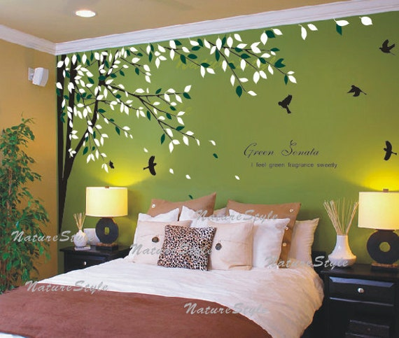 FREE SHIPPING bedroom wall decal vinyl wall decals birds