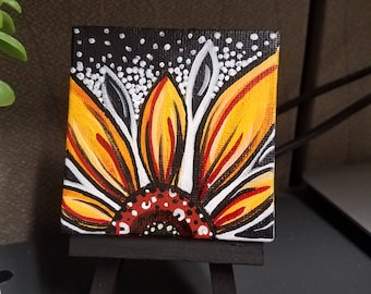 mini sunflower painting