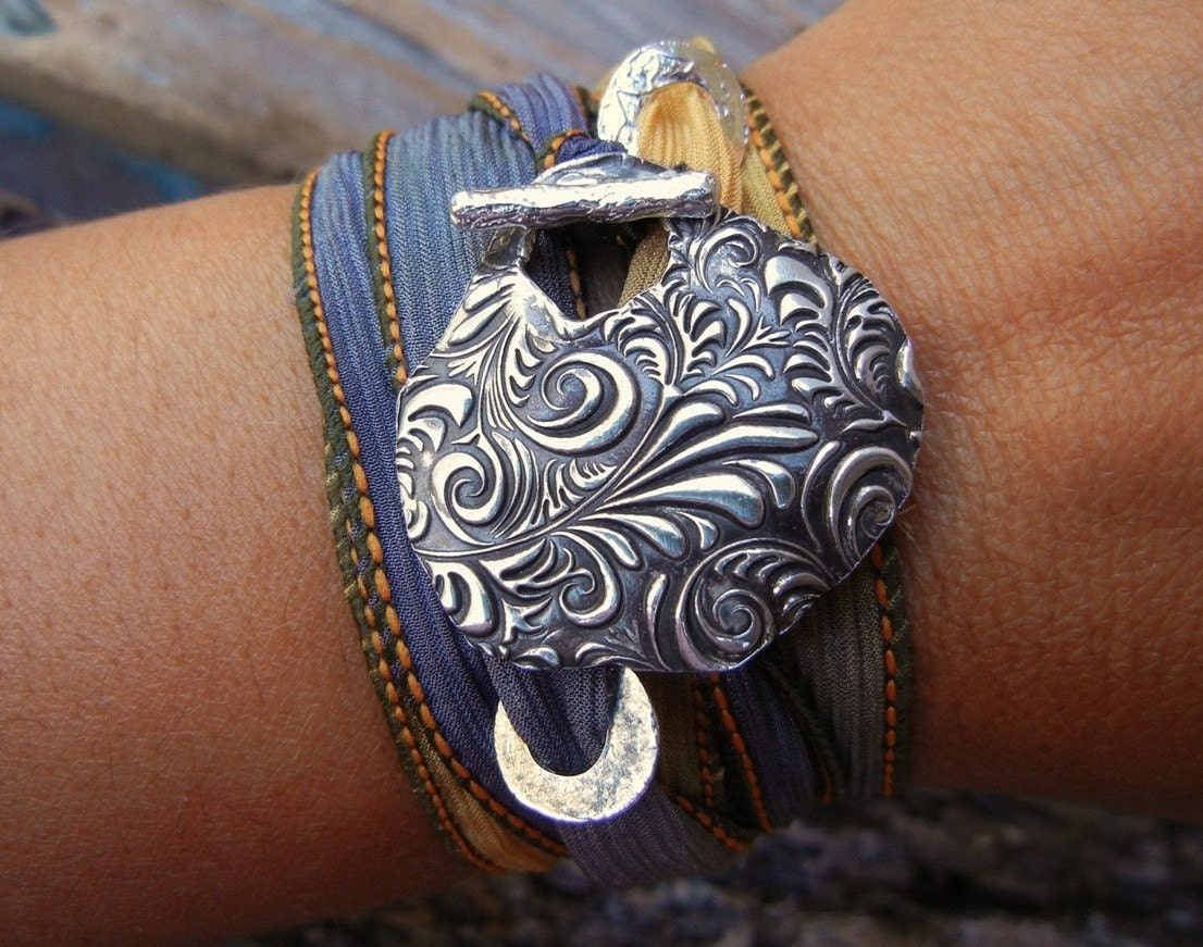 Artisan Jewelry Pure Silver n Fine Silver Bracelet Hand Made  |Newest Silver Artisan Jewelry