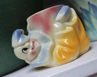 Shawnee Pottery Clown Planter 607 American USA Nursery decor VINTAGE by Plantdreaming