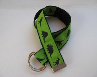 Dinosaur Boys and Girls Jacquard Ribbon Belts Kids toddlers