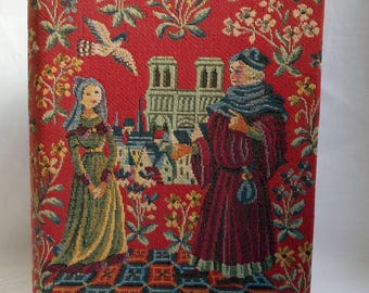 Vintage french the Menagier of Paris book / middle ages / plan Paris former / engraving / reproductions / 1960 / box noble tapestry.