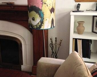 Large Drum Lamp Shade,  Funky Lampshade,  Custom Lamp Shade for Floor Lamp,  Drum Shade for Lamp,  Large Light Shade,  Tall Lamp Shade