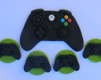 12 + 1 large edible XBOX CONTROLLER cupcake topper game cake decoration topper gumpaste sugarcraft birthday wedding anniversary engagement