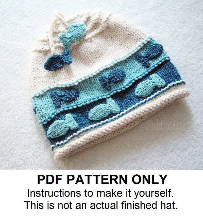 Hat Knitting Pattern Nautical Fish Hat Pattern the CHARLIE