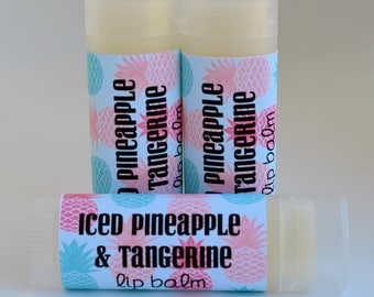 Iced Pineapple and Tangerine - Lip Balm - Sweetened Lip Balm - Pineapple Lip Balm - Tangerine Lip Balm - Pineapple Chapstick