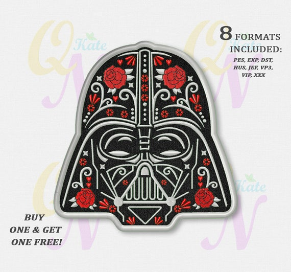 Bogo Free Darth Vader Applique Embroidery Design Star Wars Machine