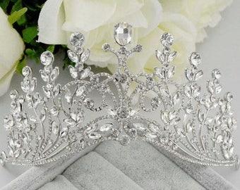VICTORIA - Silver Bridal Wedding Tiara Crown