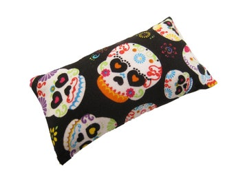 Glamour Skull Black Pincushion filled with Emery Sand
