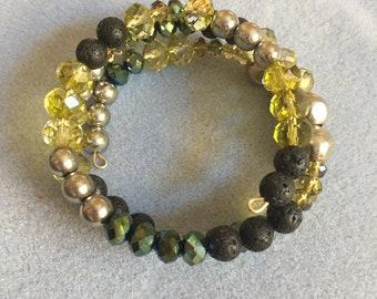lava bead wrap bracelet