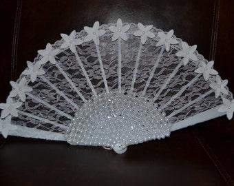 Hand fan - Bridal Accessories - Wedding hand fan - hand held fan - lace hand fan - Bride Accessories - Wedding Accessories