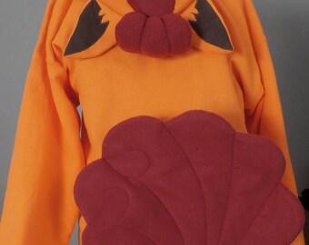 Custom Vulpix Hoodie Pokemon Hooded Sweatshirt Hoody Cosplay