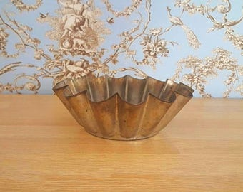 Metallic brioche mold, charlotte mold, vintage, french pastry, Made in France, mold 1