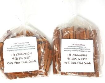 "1 lb CINNAMON STICKS 10"" 6"" 2.75"" INCH Cassia Garnish Wreaths Potpourri Sachets Apple Cider Hot Chocolate Craft Crafting Bulk Wholesale"