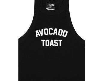 Avocado Toast Tank Top Crop T Shirt Tee Womens Fun Tumblr Hipster Grunge Goth Kawaii Harajuku Slogan Fashion Cute 90s Feminist Celebs Vegan