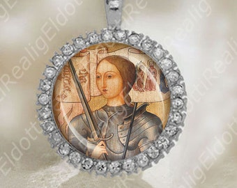 St Joan of Arc Medal Catholic Religious Jewelry New