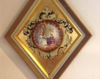 Vintage porcelain wall hanging