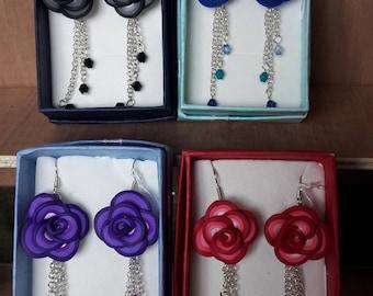 Handmade Rose earrings